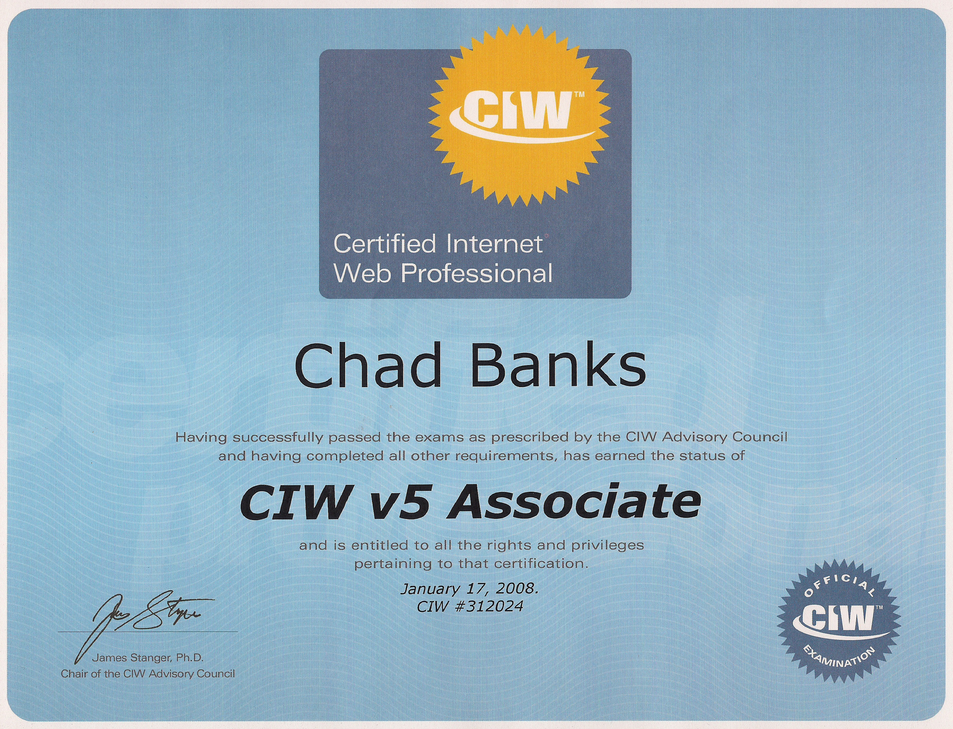 Resume chad r banks certifications 1betcityfo Images